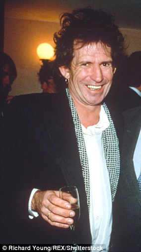 Keith Richards, pictured in 1991, once was given a black eye by Chuck Berry