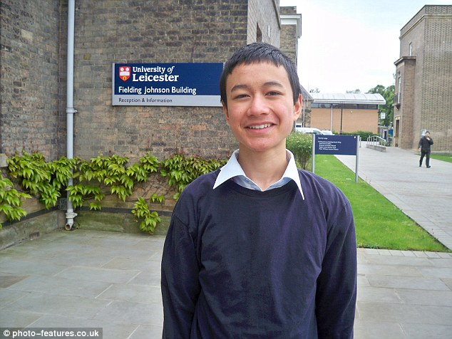The child genius attended a state primary school before winning his place to study degree level maths at just 12 years old in 2014