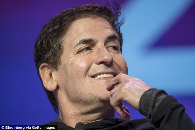 Despite losing about $1billion off his net worth, Trump can perhaps take solace in being ranked higher than rival Mark Cuban (pictured) - who is worth $3.4billion, according to Forbes