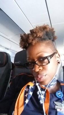 Image result for Black flight attendant denied pay over 'extreme mohawk'
