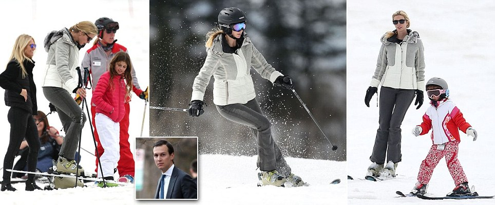 Ivanka trump skies alone in Aspen while Jared is in DC