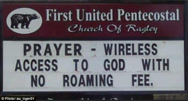 What a deal! Who needs the internet when you've got free access to God wherever you go?