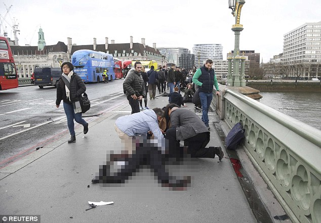 Bystanders stop to give people mouth to mouth after the driver mowed them down. Katie Hopkins says we are now a broken London