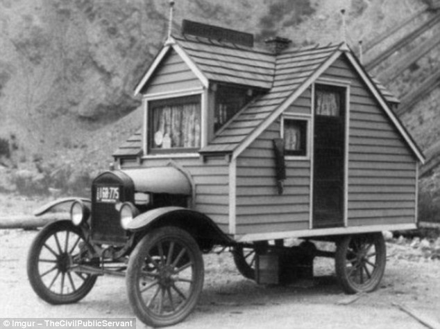 An early motorhome built in 1926, which looks a lot more like an actual house than the caravans of today