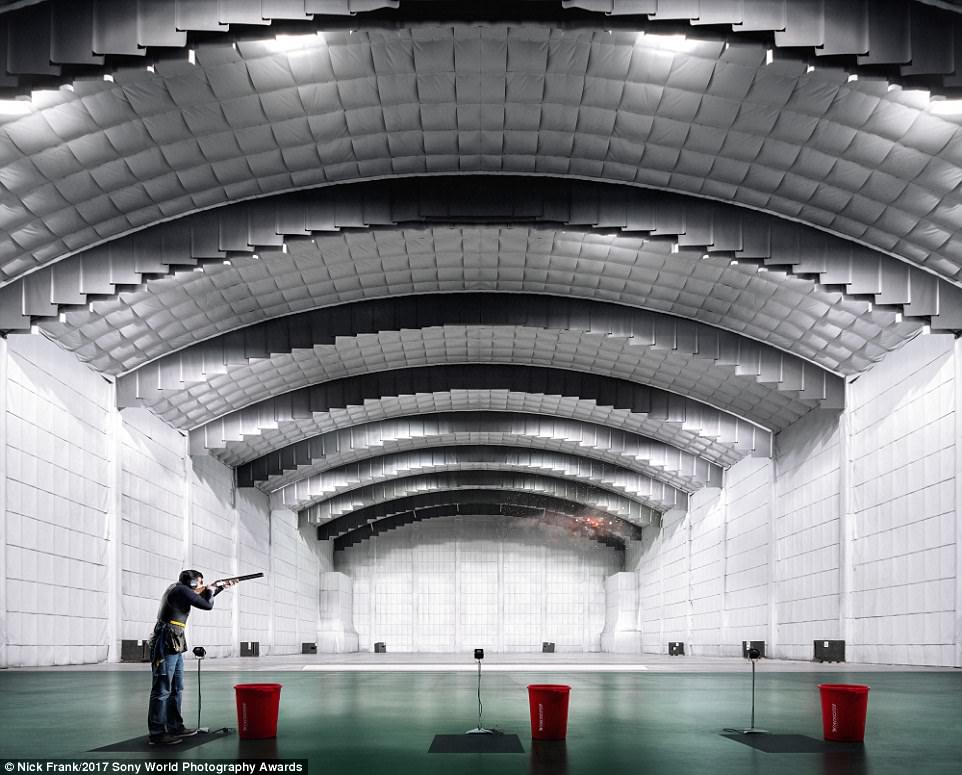 Great shot: An incredible picture of the largest skeet hall in Europe by photographer Nick Frank
