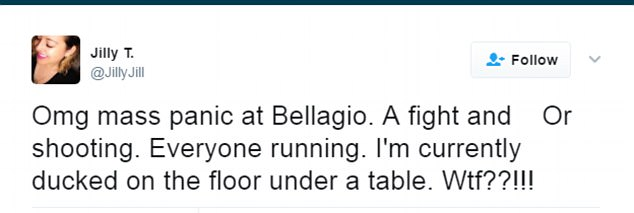 This terrified Bellagio hotel guest tweeted from under a table as she hid from the shooter