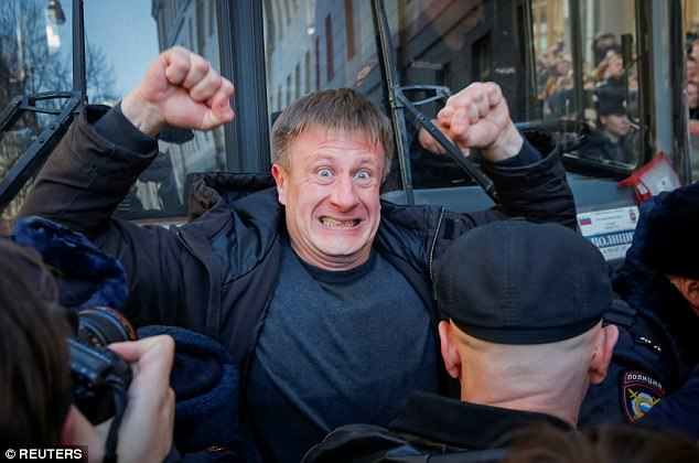 The Russian constitution allows public gatherings, but recent laws have criminalised protests unauthorised by city authorities