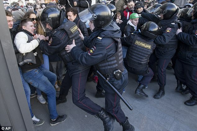 Despite the dramatic scenes in Moscow, state TV did not cover the protests, instead showing soap operas and nature films