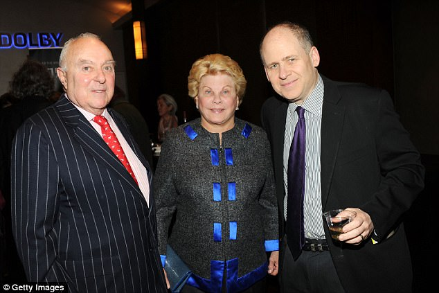 Schumer reportedly lost his cool after bumping into Joseph A. Califano Jr (left) and his wife, Hilary (middle)