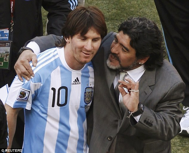 Image result for messi and maradona