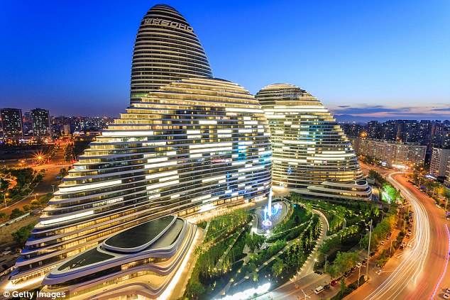 A massive urbanised region is forming around the Chinese capital city of Beijing (pictured)