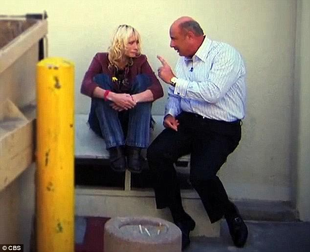 After Strauss began to abuse drugs, she ended up homeless. A public intervention by television's Dr. Phil (above) in 2012 appeared to be the turning point