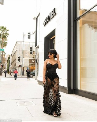 Wow factor: Blac Chynatook to Instagram on Wednesday to share a few snaps from a sexy photoshoot in front of Chanel in Beverly Hills