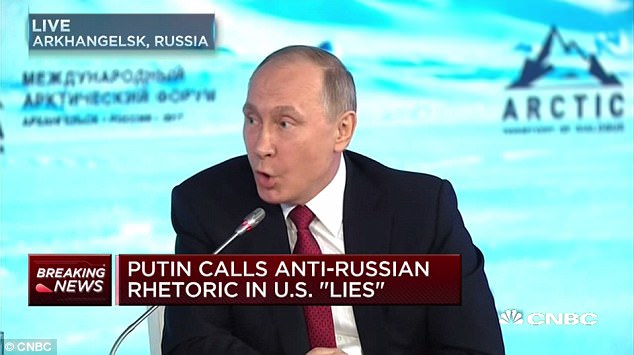 Putin said claims of Russian interference in the U.S. presidential election were 'fictional, illusory and provocations, lies'