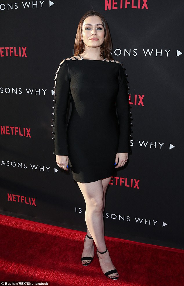 Pop if color: Sophie Simmons wore a little black dress with electric blue nails which many of the cats also painted on their nails