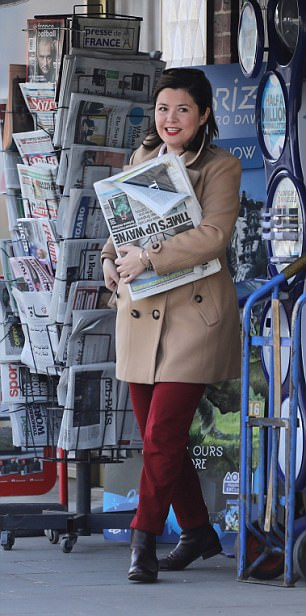 Think-tank head Laure Ferrari was seen coming out of Nigel Farage's West London home, nearly two months after the Mail on Sunday revealed they had been sharing the property