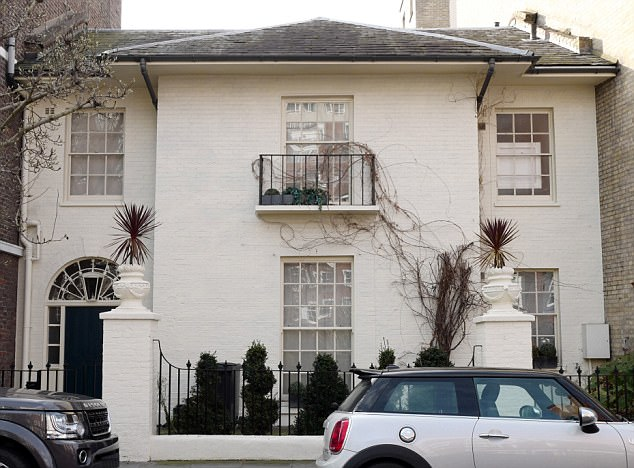 Mr Farage confirmed Ms Ferrari had stayed at his Chelsea home (pictured) last weekend and said he was based in Paris, but sometimes stayed with him 'when she is in London', adding: 'So what?'