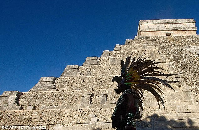 The Maya built famous pyramids such as the Kukulkan pyramid (pictured) at the Chichen Itza archaeological park.Researchers found a total of 144 different conflicts in 30 major centres