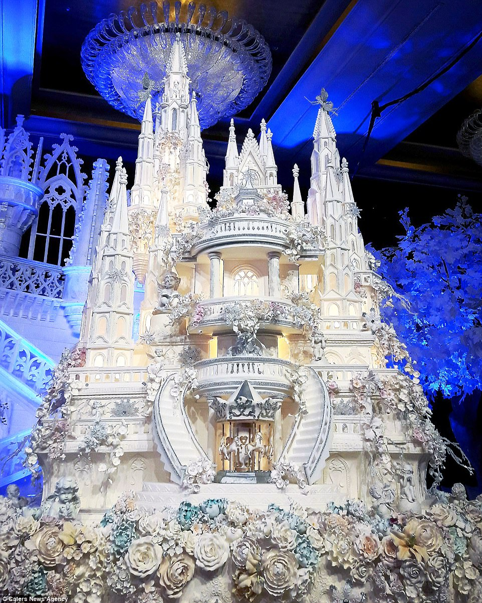Are these the most elaborate wedding cakes of all time    Daily Mail     This fairytale castle wedding cake features incredible sugar work detail   including a carousel of horses