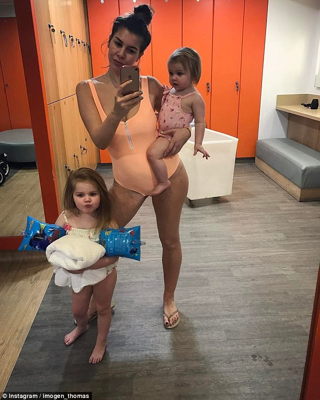 Girls' day out: The television personality has been with her partner, city trader Adam, since 2011. They welcomed first daughter Ariana, into the world in February 2013, and second girl Siera, in November 2015