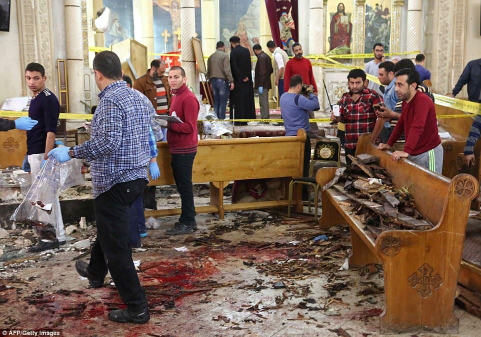 More than 38 people have been killed in today's blasts in Tanta and Alexandria which have been claimed by ISIS