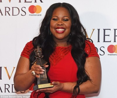 Iconic! Amber won for her role as Effie White in Dreamgirls which kicked off in November 2016 and will wrap in October 2017 at The Savoy Theatre in London