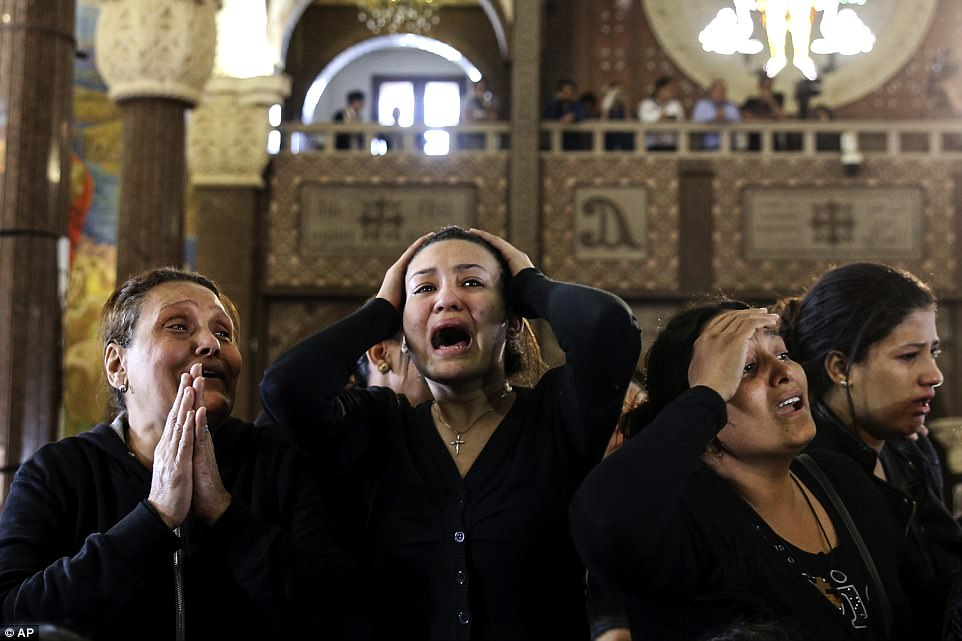 The twin attacks marked one of the bloodiest days in recent memory for Egypt's Christian minority,the largest in the Middle East