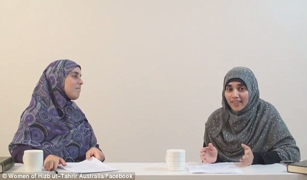 During the 30-minute discussion at a meeting Sydney's west, Ms Allouche and fellow panellist Atika Latifi (right) describe how beating women is a 'symbolic act'