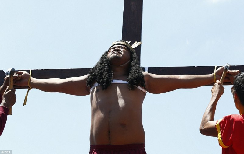 Suffering: These celebrations are one of the most extreme and striking examples of how people from around the world mark Easter, and is considered an honour