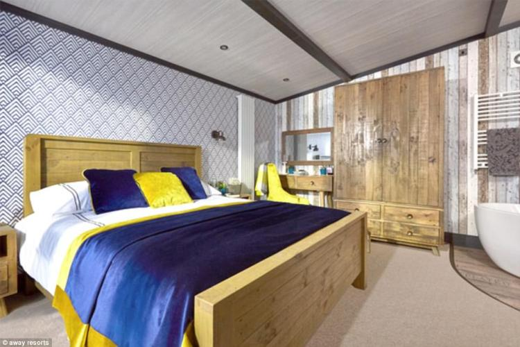 The master bedroom: Away Resorts's bossCarl Castledine believes the TriBeCa makes caravanning cool