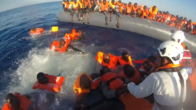 Billedresultat for UN admits 7 out of ten migrants crossing the Mediterranean from Libya are NOT refugees as crisis sparks hostility and violence in Italy