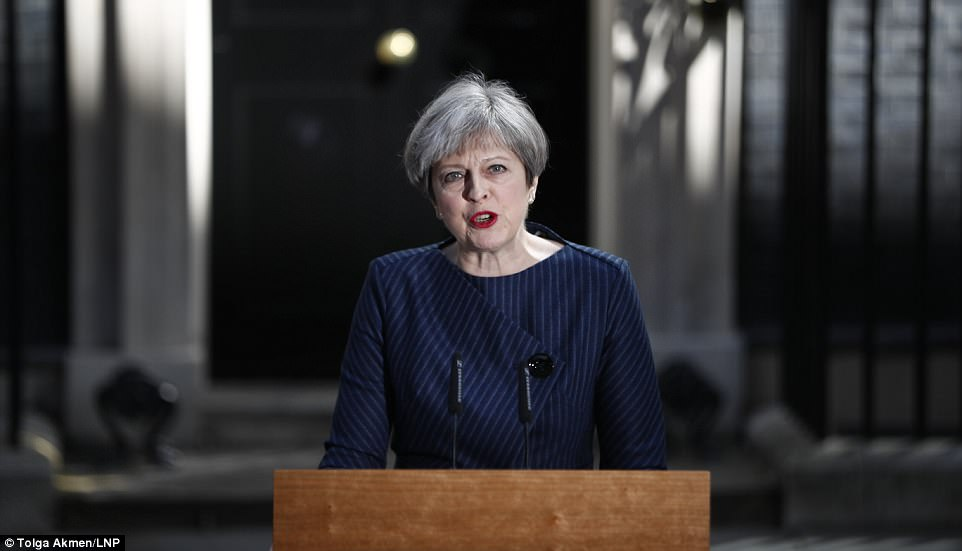 Theresa May has announced a snap general election will be held on June 8 from the steps of No 10 after meeting her Cabinet this morning