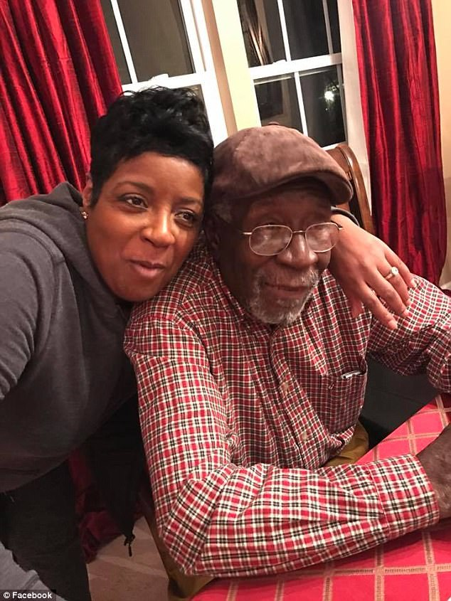 The family of 74-year-old Robert Godwin (pictured with his daughter, Tonya) has said they forgive the man who murdered their father in Cleveland on Sunday