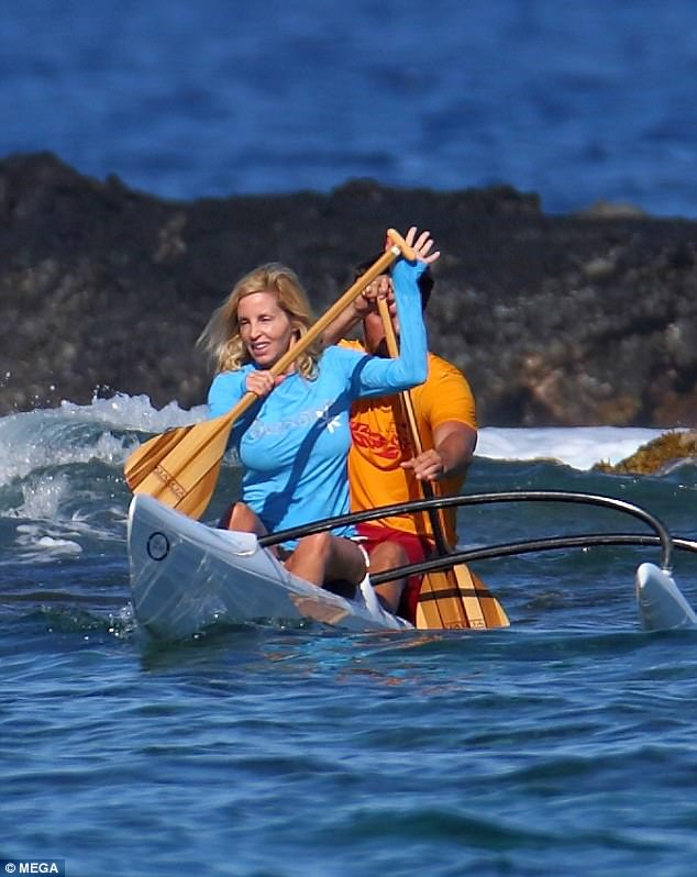 Water sports: She enjoyed an active time in the water