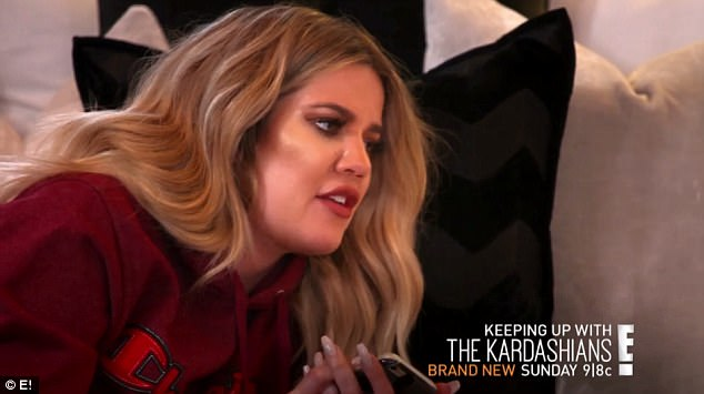 Asking the questions: 'She texted all your sisters and said that she's ready to leave you,' says Khloé, 32