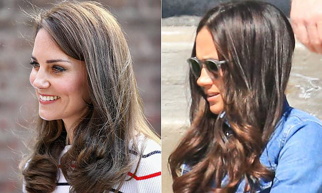 Meghan Markles Curly Hair Is Just Like Kate Middletons