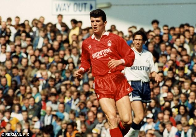 Roy Keane was named in the team of the year as both a Nottingham Forest and United player