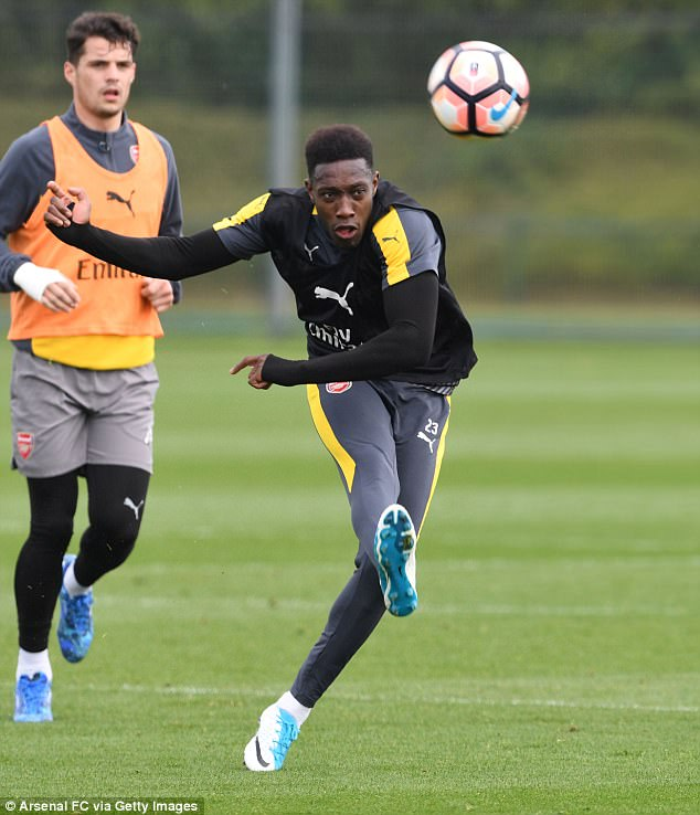 Welbeck has been missing through injury, and won't be fit enough to play on Sunday