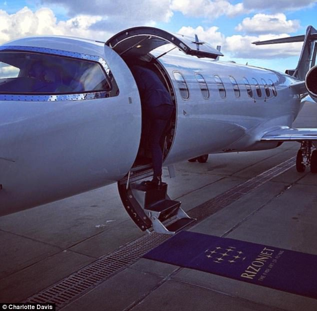 Charlotte said she had to completely learn the ropes 'overnight' - and now she flies all over the world on a private jet