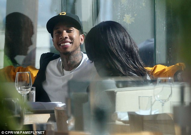 No hiding: It seems Tyga - whose full name is Micheal Ray Stevenson – is keen for Kylie to see he has moved on