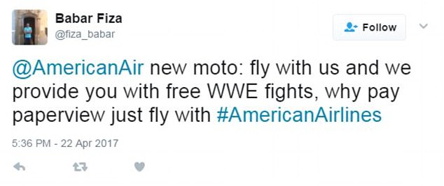 Some users wondered whether American was receiving sponsorship from other entities or adding new in-flight entertainment such as free wrestling
