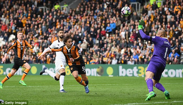 Markovic scored the opener at the KCOM Stadium to send Hull on the way ...