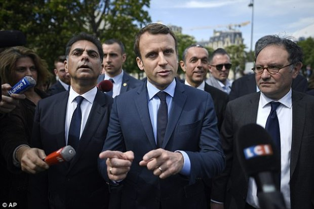 Emmanuel Macron billed himself as being 'neither of the left or of the right' and has campaigned on a pro-EU, pro-business platform. Many of his supporters fly European flags at his rallies