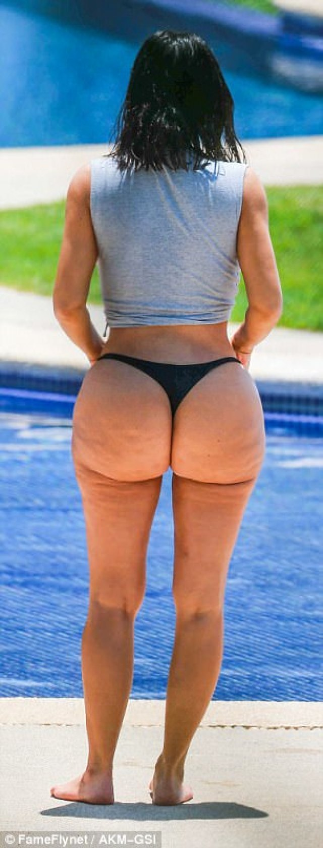 Cheeky: Her thong bikini was a metaphorical middle finger to the haters