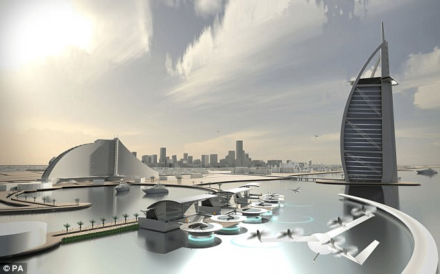 Image result for Uber works with NASA to get flying taxis ready by 2020