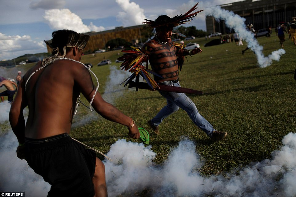 Clashes with ranchers, logging companies and other businesses operating near or on their lands are common. However, indigenous leaders say the violence has worsened in the last year amid Brazil's economic crisis