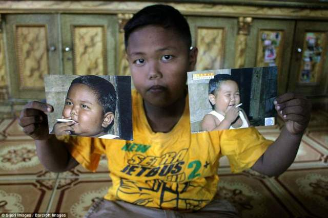 At nine-years-old, Aldi Rizal has managed to keep away from cigarettes, lose weight and excel at school