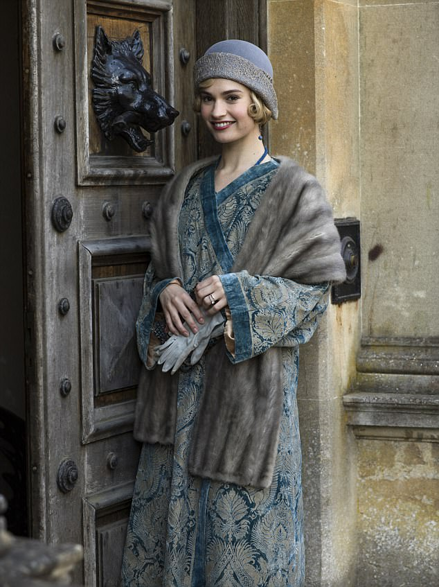Another world: Lily is perhaps best known for playing quaint characters, such as Lady Rose MacClare in Downton Abbey