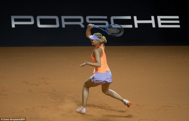 Sharapova took her first break opportunity in the first set to lead 4-3 before clinically earning the remaining two game points