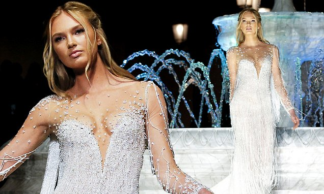 Victoria's Secret's Romee Strijd Thrills In Wedding Dress